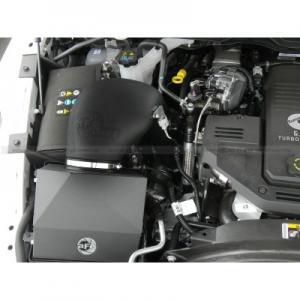 Magnum FORCE PRO DRY S Stage-2 Intake System; Dodge RAM Dsl Trucks 13-14 L6-6.7L (td) w/ Cover installed