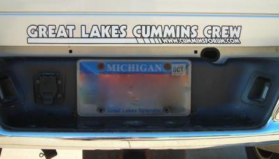GLCC Great Lakes Cummins Crew 2X22 Decal