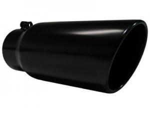MBRP 5 inch Black Angled Tip Rolled End 4 inch inlet