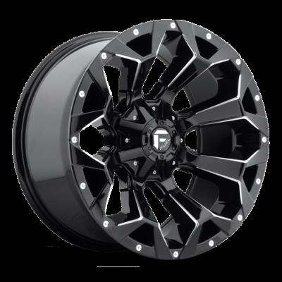 Fuel Wheels Assault Gloss Black & Milled (D576)
