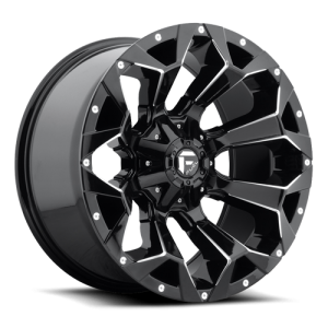 Fuel Wheels Assault Gloss Black & Milled (D576)