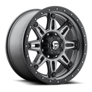 Fuel Wheels Hostage III Matte Anthracite w/ Black Ring (D568)