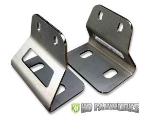 KD Fabworks 03-14 2500/3500 40 RIGID RDS Light Bar Bumper Brackets (TR-1004)