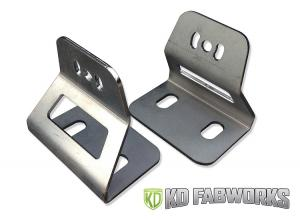 KD Fabworks 03-14 2500/3500 40 Curved Import Bar Brackets (TR-1005)