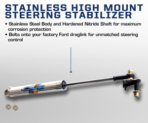 Carli 08+ Ford Stainless High Mount Steering Stabilizer (CS-FHMS-SS-08)