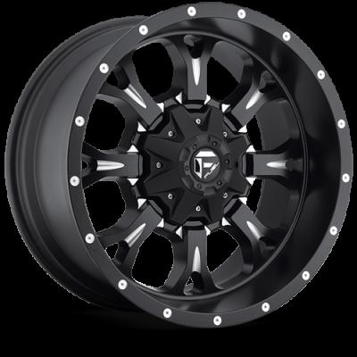 Fuel Wheels Krank Matte Black & Milled (D517)