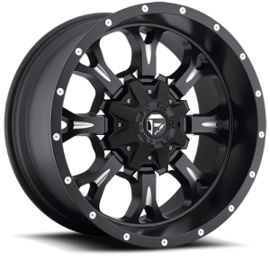 Fuel Wheels Krank Matte Black & Milled (D517)