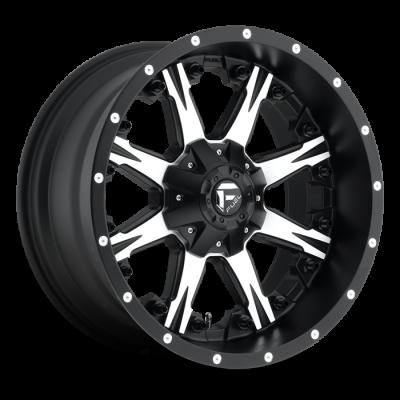 Fuel Wheels Nutz Black & Machined (D541)