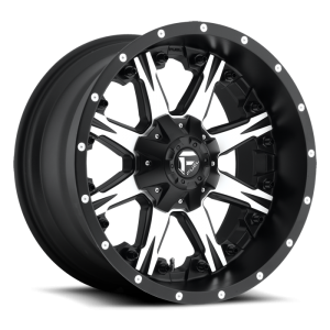 Fuel Wheels Nutz Black & Machined (D541)