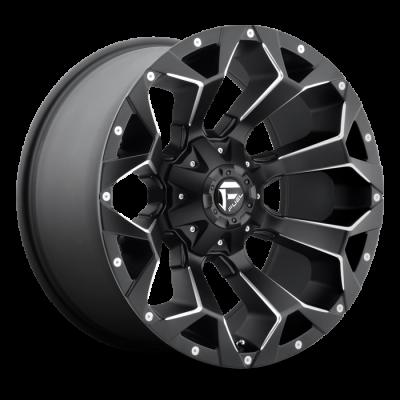 Fuel Wheels Assault Black & Milled (D546)