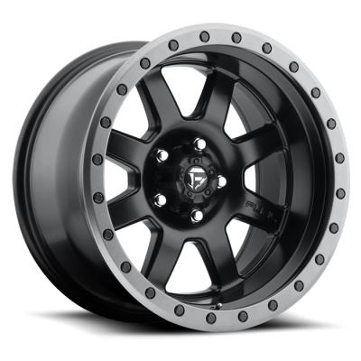 Fuel Wheels Trophy Matte Black w/ Anthracite Ring (D551)