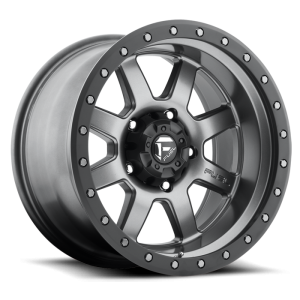 Fuel Wheels Trophy Matte Anthracite w/ Black Ring (D552)