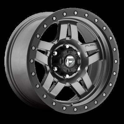 Fuel Wheels ANZA Matte Anthracite w/ Black Ring (D558)