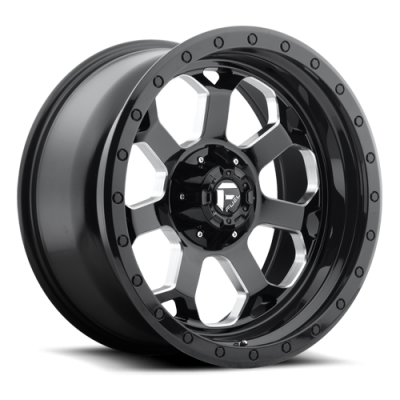 Fuel Wheels Savage Gloss Black w/ Milled Through Windows (D563)
