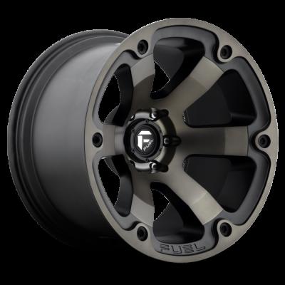Fuel Wheels Beast Black & Machined with Dark Tint (D564)