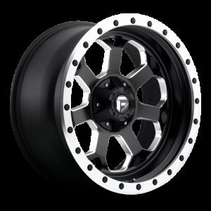 Fuel Wheels Savage Matte Black w/ milled through windows & ring (D565)