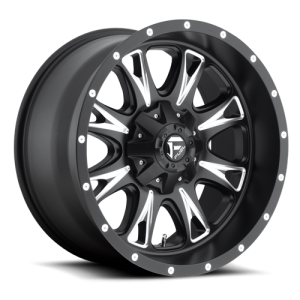 Fuel Wheels Throttle Matte Black & Milled (D513)