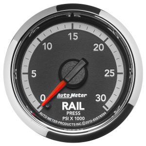 Autometer 2-1/16 Fuel Rail Pressure, 0-30K PSI, Gen 4 Dodge Factory Match (AUT8594)