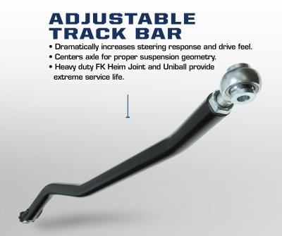 Carli Dodge Adjustable Chromoly Track Bar (CS-DPRB-03)
