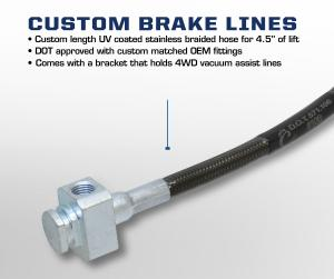 Carli 2017 Ford BackCountry 2.0 System custom brake lines CS-FORDBBL-17-F