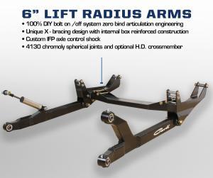 Carli 6'' Dodge Pintop 2.5 Radius Arm System (CS-DPT25-6-10)