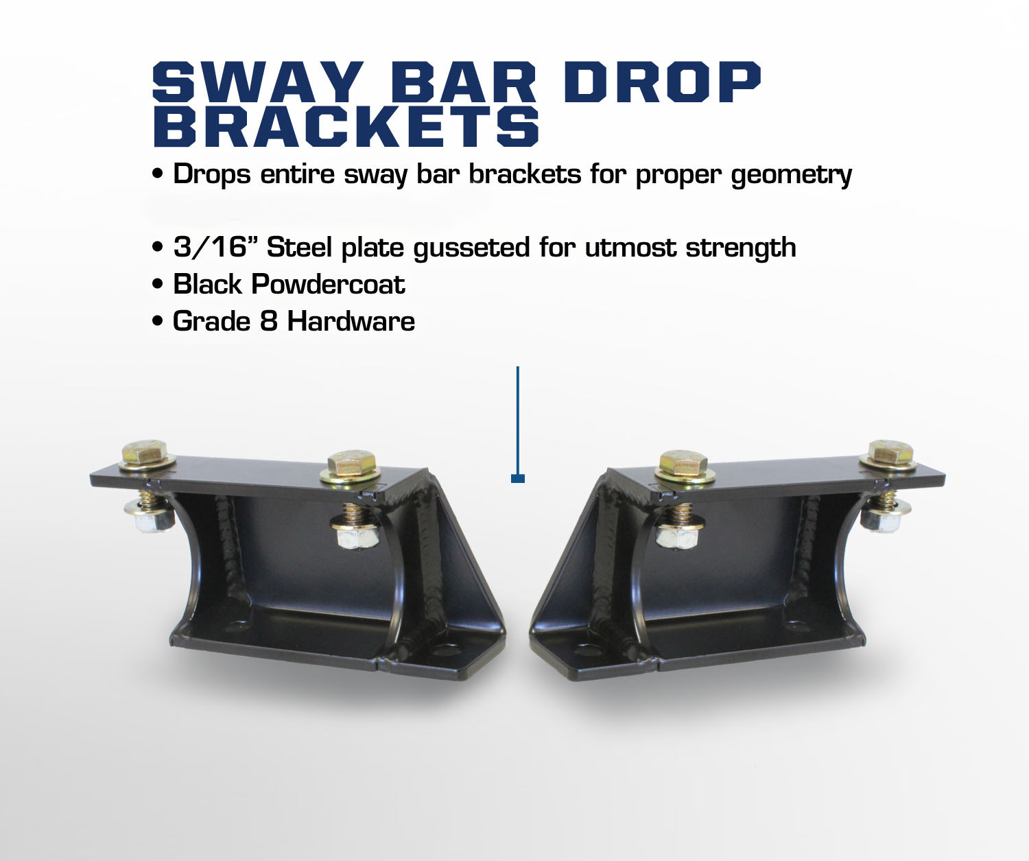 Ford Sway Bar Bracket : Carli ford sway bar drop brackets