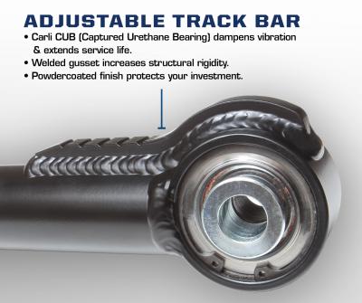 Carli Dodge Adjustable Chromoly Track Bar (CS-DATB-03)