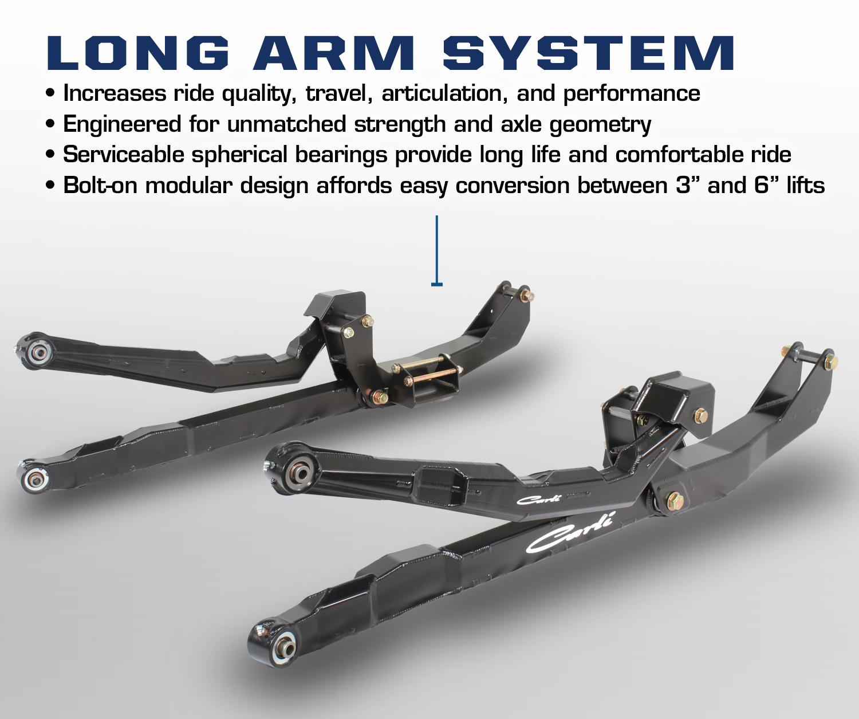 Carli Dominator 3 0 Lift Kit For 03 09 Dodge Ram 2500 3500: Carli Dominator 3.0 Long Arm System