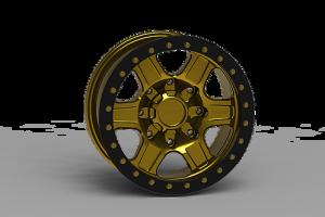 INNOV8 G400 Simulated Beadlock Wheel 17x8.5 (G400SBL17)