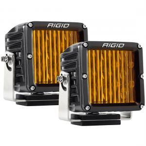 Rigid Industries D-XL Pro DOT-SAE J583 LED Fog Light Selective Yellow Surface Mount Pair (321514)