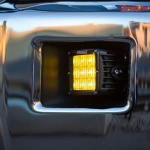 Rigid Industries D-XL Pro DOT-SAE J583 LED Fog Light Selective Yellow Surface Mount Pair (321514)