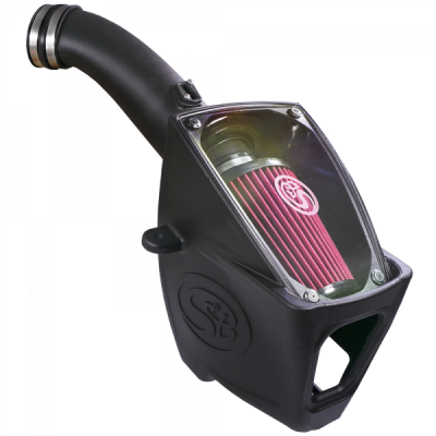 S/&B Filters 75-5104 Cold Air Intake for 2011-2016 Ford Powerstroke 6.7L Cotton Cleanable Filter