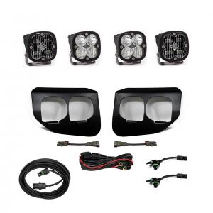 447736 - 2x Squadron SAE White lights / 2x Squadron Pro White Lights with Standard Wiring Harness