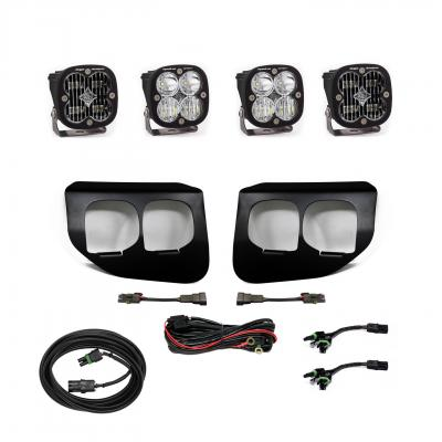 447738 - 2x Squadron SAE White lights / 2x Squadron Sport White Lights with Standard Wiring Harness