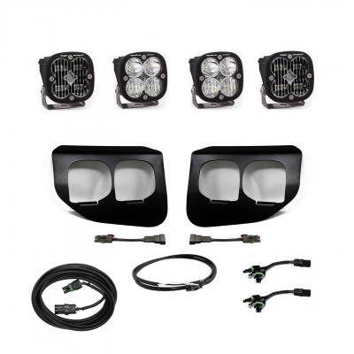 447738UP - 2x Squadron SAE White lights / 2x Squadron Sport White Lights with Standard Wiring Harness