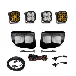 447739 - 2x Squadron SAE Amber lights / 2x Squadron Sport White Lights with Standard Wiring Harness
