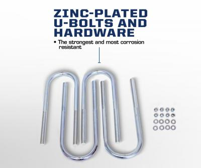 Carli Ford Full Spring Pack zinc plated U-Bolts and hardware