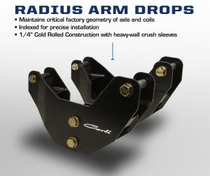 Carli 2014+ Ram Radius Arm Drop Brackets