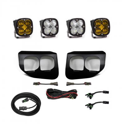 447737 - 2x Squadron SAE Amber lights / 2x Squadron Pro White Lights with Standard Wiring Harness