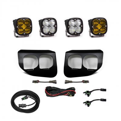 447739 - 2x Squadron SAE Amber lights / 2x Squadron SportWhite Lights with Standard Wiring Harness