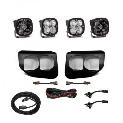 447736 - 2x Squadron SAE Whitelights / 2x Squadron Pro White Lights with Standard Wiring Harness