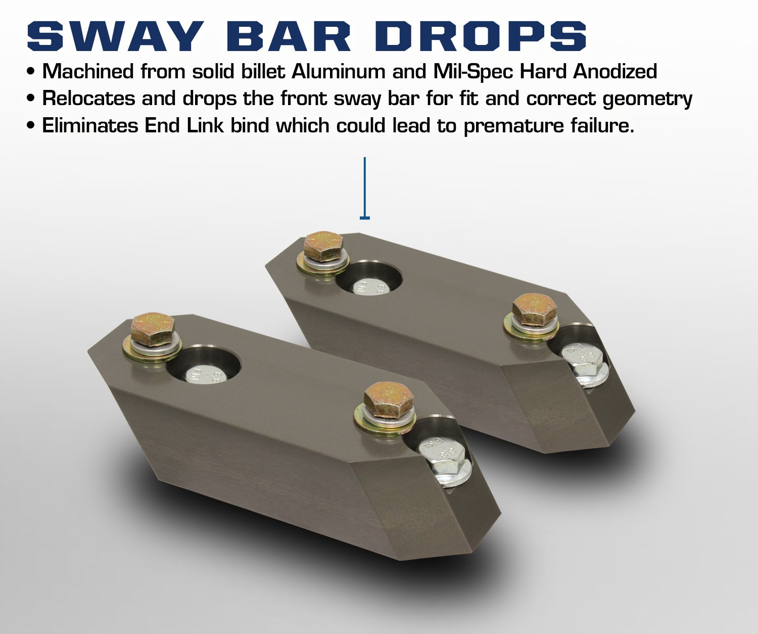 Carli Dodge Ram Sway Bar Drop Brackets