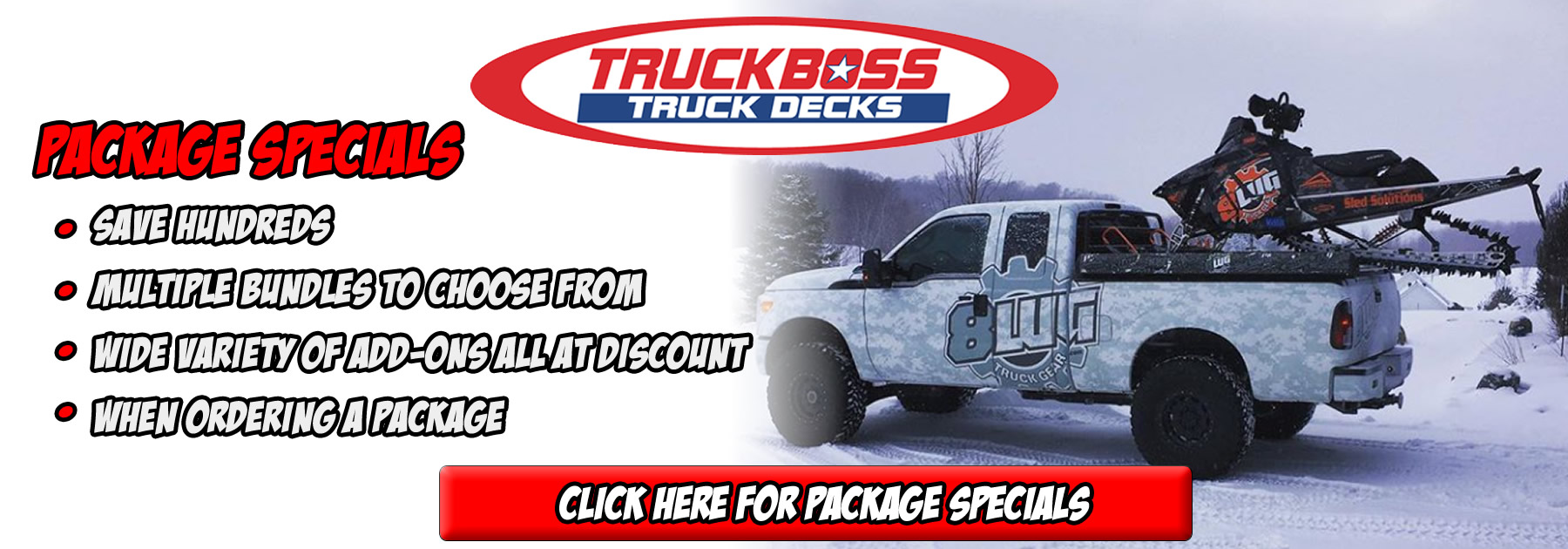 TruckBoss Sled ATV Jetski Decks at 8LUG Truck Gear