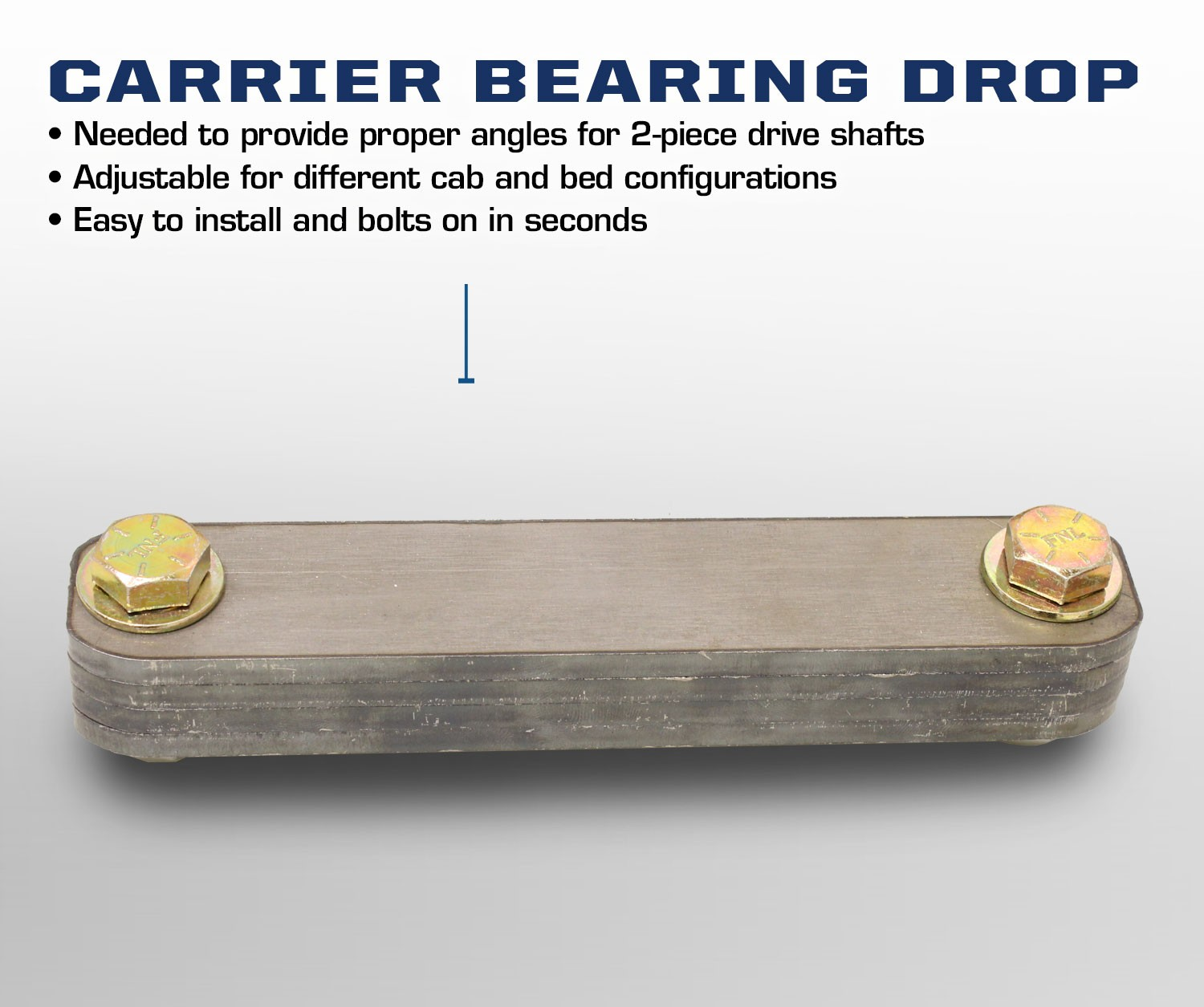 Carli Suspension Ford Carrier Bearing Drop - CS-CARRIERDROP-F