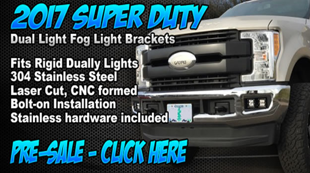 KD Ford 2017 Light Brackets at 8Lug Truck Gear